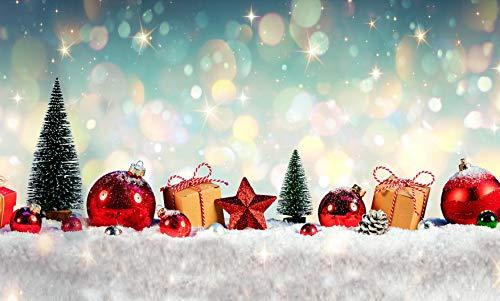 TAPPETIK Tappeto Natalizio, Passatoia in Stampa Digitale Natale Alta qualità, Ampia Gamma di Colori e Disegni (Serie Digit Natale) - Disegno Natale 10 (52x230 cm)