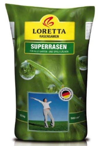 Greenfield Rasensamen Loretta Superrasen 10 kg, grün