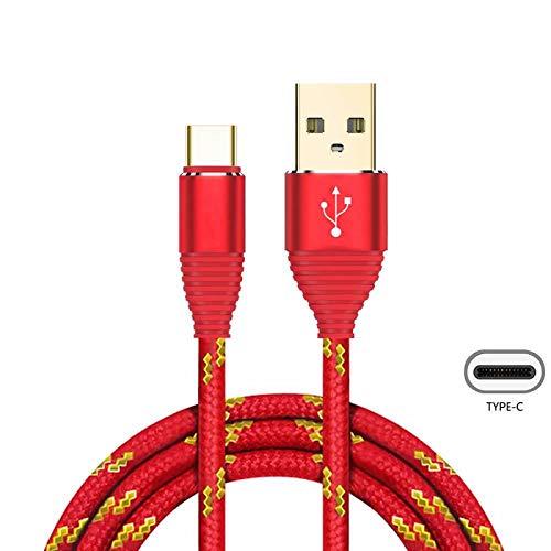 Superior USB Typ C Kabel ZRL® Nylon Litzen USB C Gold-Plated Stecker schnell Ladegerät Ladekabel f. Samsung Galaxy S8, S8+, Note 8, LG V30, V20, Nexus 5X, 6p und mehr (1M/3 ft)