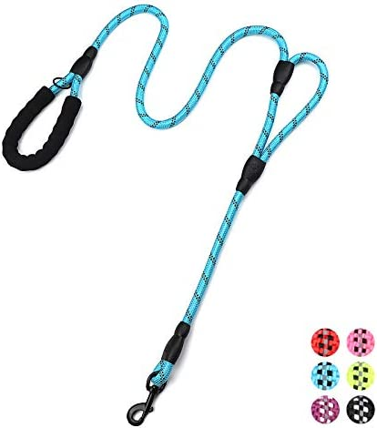 PLUTUS PET Rope Dog Leash 6ft Long Traffic Padded Two Handle Heavy Duty Reflective Double Handles product image