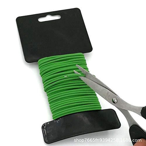 Xinzi DIY Flexible Tie Plant Clip Weatherproof Plant Twist Ties Reusable Soft Garden Support Strap(3.5mmX8m)
