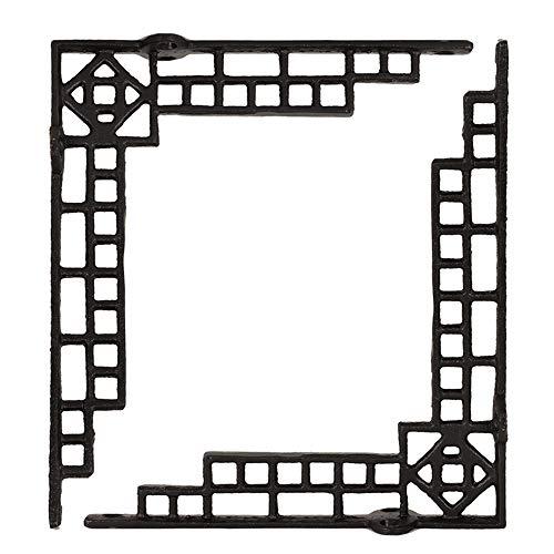 ba/ño 2 soportes y soportes para estantes de pared cocina Soportes de estante negro para decoraci/ón del hogar para sala de estar dormitorio oficina