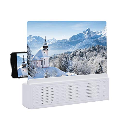 Phone Screen Amplifier With Speaker,Adjustable Folding Design 3d Phone Magnifier Screen