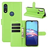 Moto E (2020) Case, Gift_Source Premium PU Leather with Credit Card Holder Case Slim Wallet Flip Kickstand Function Magnetic Cover Purse Protective Shell for Motorola Moto E (2020) 6.2' [Green]