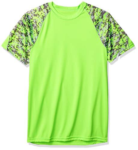 Augusta Sportswear Men's Color Block Digi Camo Jersey, Lime/Lime Digi/Silver, 3X-Large