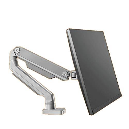 24/27 / da 34 pollici Monitor Holder Mount LCD Monitor LED Braccio staffa rotativo da 360 gradi Monitor stand (Color : Gray)
