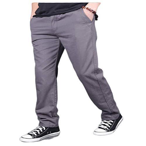 nobranded Pantalons pour Hommes Pantalon décontracté en Coton Pantalon Cargo lâche Pantalon de Taille Plus Simple Pantalon Droit à Taille élastique pour Le Camping Randonnée Marche