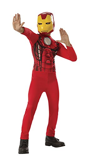 Avengers - Disfraz de Iron Man para niño, infantil 8-10 años (Rubie's 640921-L)