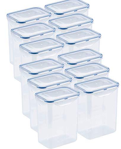 Lock&Lock | HPL813 Vorratsdosen & Frischhaltedosen | Füllmenge 1,8 L | BPA frei & spülmaschinengeeignet | luftdicht & wasserdicht | Aufbewahrungsdose & Vorratsbehälter mit 4fach Klickverschluss