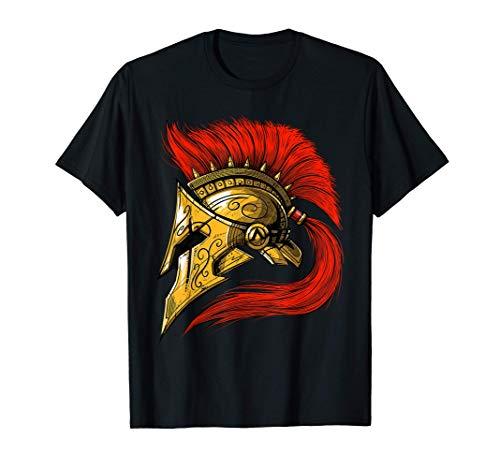 Spartan Warrior Helmet Ancient Greek Mythology Roman History T-Shirt