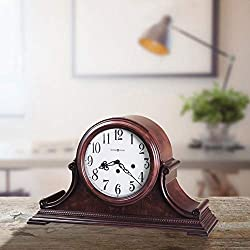 Chiming Palmer Key Wound Mantel Clock, Overall: 11.25'' H x 19'' W x 6.75'' D, Key-Wound, Westminster Chime Movement with Chime Silence Option and Durable Bronze bushings