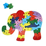 Rompecabezas De Madera Educativo para Niños | Puzzle De Bloques De Construcción | Juguetes Infantiles para Regalo De Cumpleaños Y Navidades | Elefante