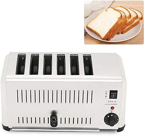 Haushalts 1800W Brotbackmaschine Automatischer Toaster mit 6 Scheiben Toast Sandwich Grillofen 220V Sandwich Maker mit Bagel, Abbrechen, Abtaufunktion
