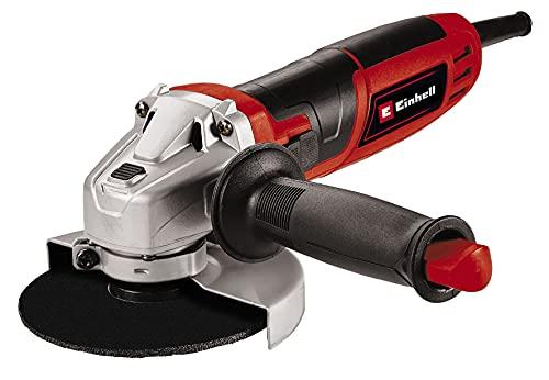 Einhell Amoladora angular TC-AG 115/750 (750 W, bloqueo para el husillo para cambio de herramientas, adecuada para discos de corte de 115 mm de diámetro, se suministra sin disco de corte)