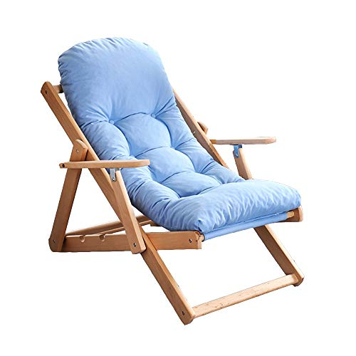 Axdwfd Zero Zwaartekrachtstoel, houten ligstoel, balkonstoel, tuinstoel, zonnebank, inklapbare ligstoel, 3 hoeken, verstelbaar