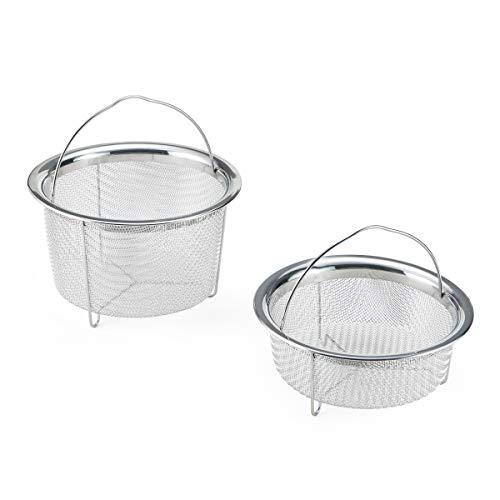 Instant Pot Official Mesh Steamer Basket, Set of 2, Stainless Steel