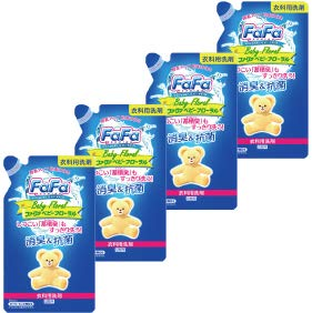 Furfa Liquid Detergent Baby Floral Refill (810ml) 4 pieces