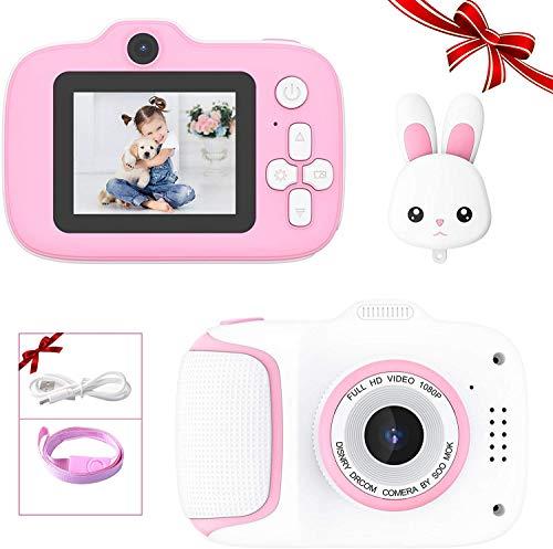 子供用カメラ CiSiRUN トイカメラ キッズ デジタルカメラ 前後2400万画素 1080P録画 連写 写真 タイマー撮影 2.4インチ IPS画面 ピンク