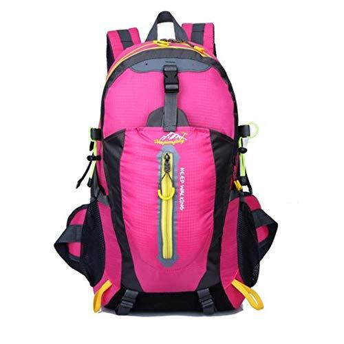 Huien Buitensporten Bergbeklimmen Rugzak Kamperen Trekking Rugzak Reizen Waterdichte hoes Fietstassen, Roze kleur, 30-40L