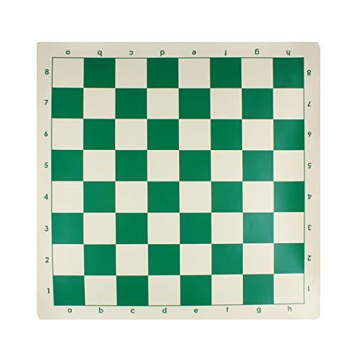 Andux Torneo de Tablero de Ajedrez Juego de Ajedrez-Vinilo Estándar Roll-up Forest Green (43 x 43cm)
