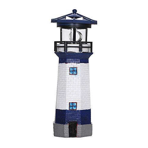 Lixada Solarleuchte Außenleuchtturm mit Drehlicht Gartenleuchten Dekorative LED Lampen