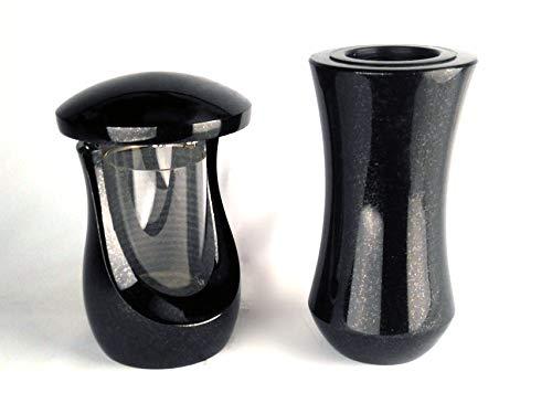 Designgrab Atria Lampe funéraire en granit suédois Noir SS1