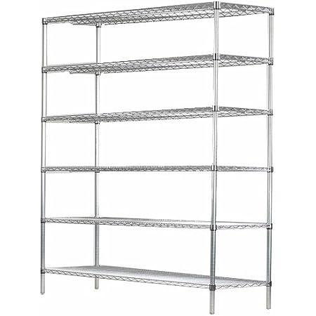 Amazon Com 14 Deep X 24 Wide X 96 High 6 Tier Chrome Starter Shelving Unit Furniture Decor