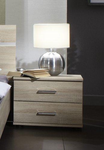 Wimex 759697Anna Nachttisch mit 2Schubladen transparent Panel 52x 38x 40cm