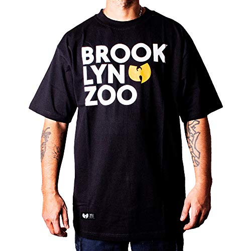 Wu Wear Wu Brooklyn Zoo T-Shirt, Wu Tang Clan Camiseta, Moda Callejera Urban, Hip Hop, Hombres, Negro