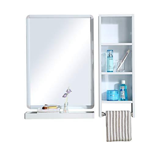 Wilk Commodes Aufbewahrung Badezimmerspiegel, Wandspiegelschrank, Wandspiegelschrank - Weiß, Aluminiumspiegelschrank