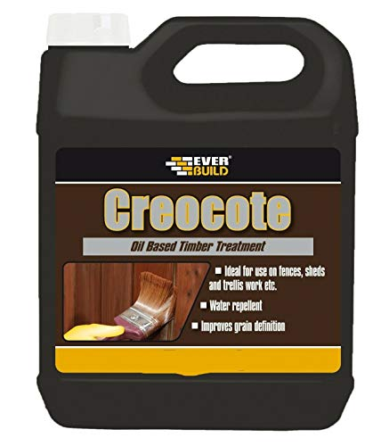 2X EVERBUILD 4LTR CREOCOTE Dark Brown Replaces Creosote Fence Wood Treatment