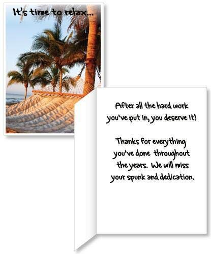 VictoryStore Jumbo Greeting Cards: Giant Retirement Card (relax), 2' x 3' card with envelope