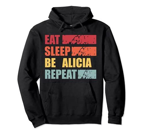 ALICIA - Camisa con nombre personalizado ALICIA Sudadera con Capucha
