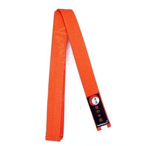 YariNoHanzo Cinturón Naranja para Karate y Judo | Todas Las Medidas