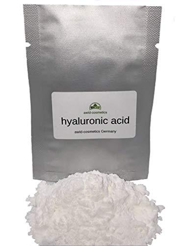 Awid-cosmetics, polvo de ácido hialurónico de 1380 kDa, 5 g, para crema, gel, loción, dosificable, antienvejecimiento, por favor, lee la descripción del producto.