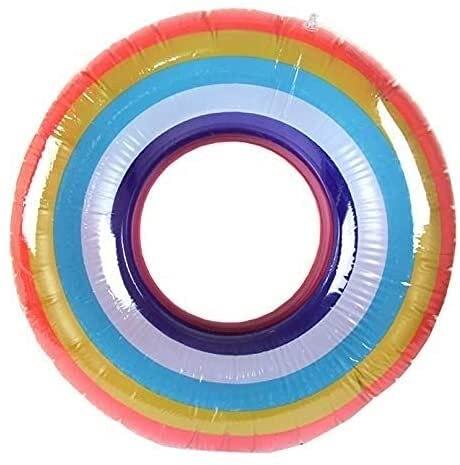 Cartoon anello di nuoto gonfiabile, sedia galleggiante gonfiabile, giocattolo della spiaggia, addensato anello galleggiante, anello galleggiante, 4 mesi-3 anni, giochi d'acqua ( Size : S(10-25kg) )
