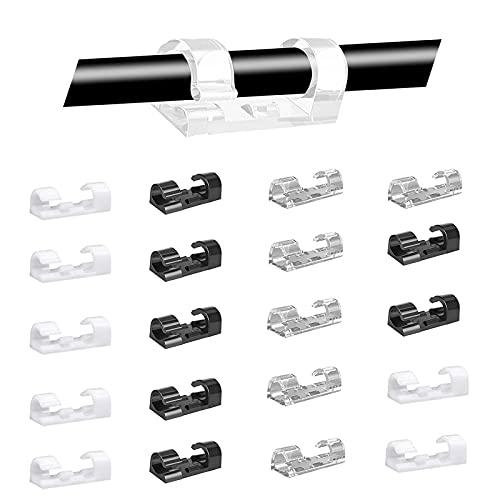 Cable de Clip Autoadhesivo Organizador de Cables Clips Soporte de Abrazadera de...