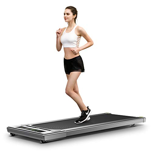 RHYTHM FUN Treadmill Under Desk Treadmill Potable Walking Pad Folding Treadmill with Wide Tread Belt Slim Mini Quiet Motorized Running Treadmill with Smart Remote and Workout App for Home and Office