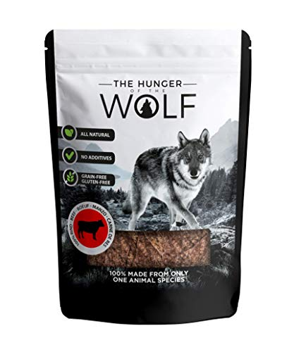 The Hunger of The Wolf - Snack de ternera para perros, 200g