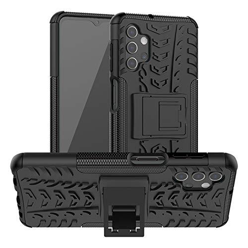 betterfon Hülle für Samsung Galaxy A32 5G - Handyhülle Samsung A32 5G Schutzhülle Silikon Hülle Cover mit [Standfunktion] für Galaxy A32 5G SM-A326B Schwarz