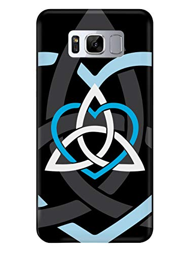 Inspired Cases - 3D Textured Galaxy S9 Plus Case - Rubber Bumper Cover - Protective Phone Case for Samsung Galaxy S9 Plus - Celtic Sisters Knot - Light Blue - Black