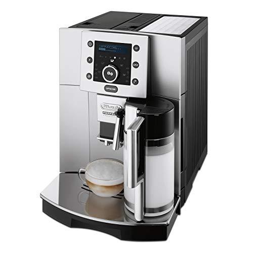 De'Longhi Perfecta Esam 5500.S Volautomatische Espressomachine, 1,8 L, Digitaal Display, Geïntegreerd Melksysteem, Kegelmaalwerk, 13-Traps Maalwerk, Uitneembare Zetgroep, 2-Kopjesfunctie, Zilver