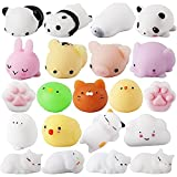 Mochi Squishy Toys ,25 Pcs Mini Kawaii Squishy Easter Party Favors for Kids,Animal Squishies Squeeze Stress Relief Toys for Adults