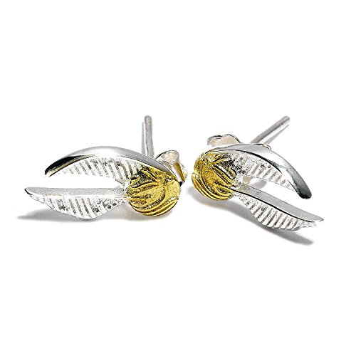Warner Bros. Pendientes Golden Snitch Plata - Harry Potter