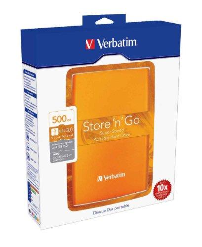 Verbatim Store 'n' Go Disco Duro Externo 2,5 pulgadas, 5400 rpm, SATA amarillo amarillo 500 GB