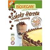 Corazones de chocolate vegano bio para decorar Biovegan 35 g