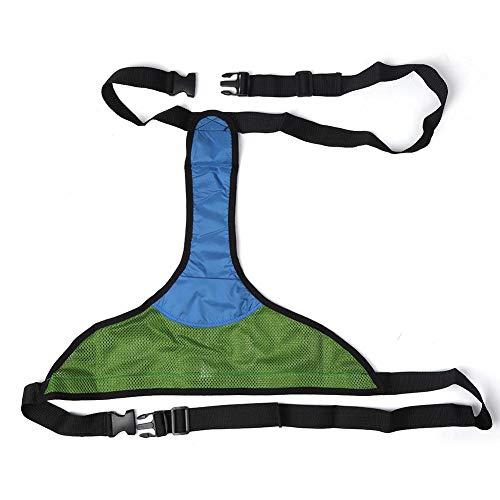 Huakii Atmungsaktiver Sicherheitsgurt für Rollstühle, Verstellbarer Rutschfester Sitzgurt für ältere Patienten(Grün)