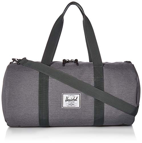 Herschel Sutton Duffel Bag, Mid Grey Crosshatch, Volume 28.0L
