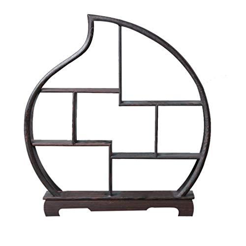 Healifty Armarios de Madera Chinos Exhibir Gabinetes de Curiosidades Estante de Palisandro para La Decoración del Hogar sin Adornos (Forma de Melocotón)