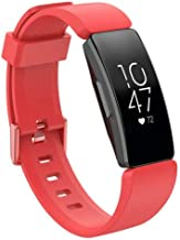 XuBa for F'itbit Inspire/Inspire HR Silicone Wristband Strap Watch Band red